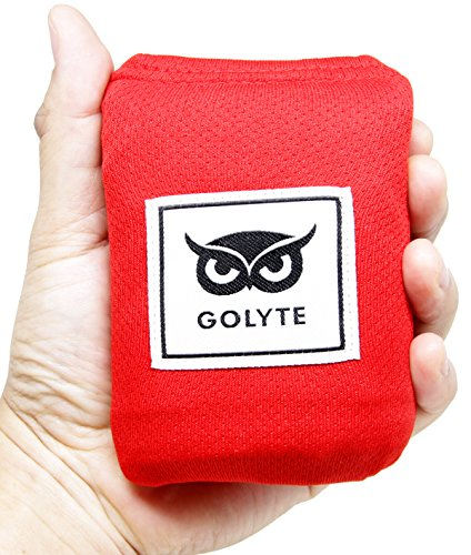 Golyte Picnic Blanket/Beach Blanket Easy Foldable Large Mat Compact Pocket Lightweight Sand Proof/Waterproof for 2 to 4 People with Sand Pockets Corner Loops Red