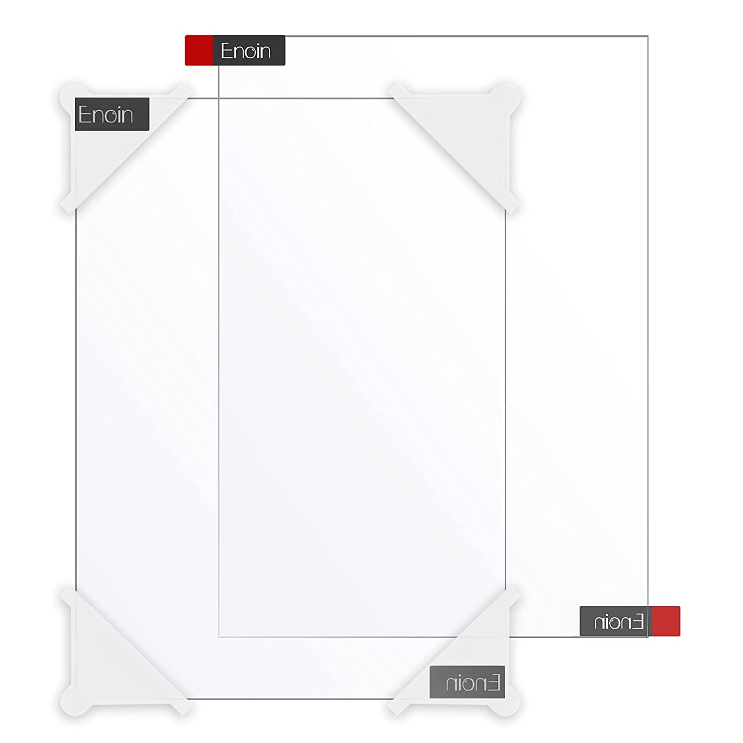 Enoin 2pcs 8 x 12 Beauty products Inch New sales Plexiglass Clear Acrylic 1 Sheet 0.080