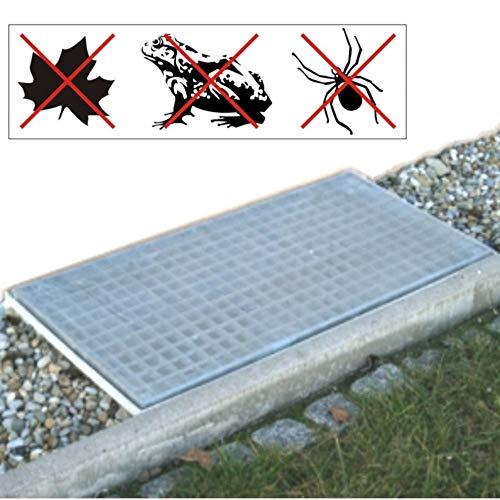 FISHBULL Qualitätswerkzeuge Lichtschacht Netz 120x60cm aus Aluminium zur Insektenabwehr