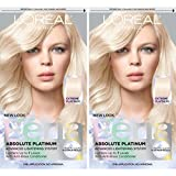 L'Oreal Paris Feria Multi-Faceted Shimmering Permanent Hair Color, Extreme Platinum, Pack of 2