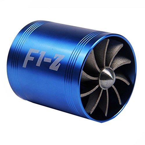 Demiawaking Turbina di Aspirazione Modifica Auto Adatto per Tubo di Aspirazione Aria Diametro 65-74mm Ventola di Risparmio Carburante di Aspirazione Aria