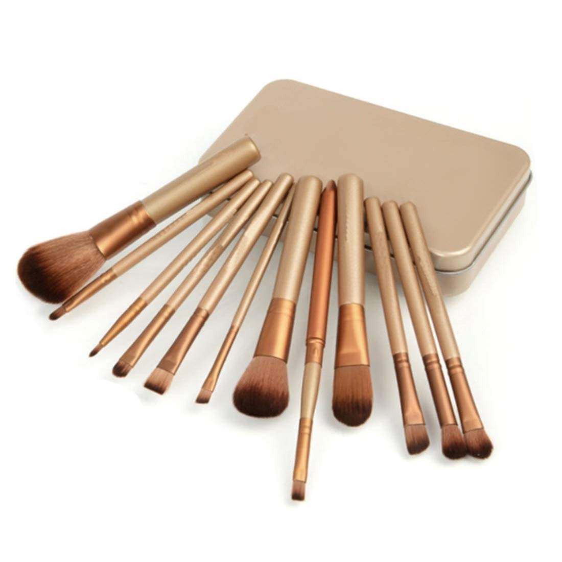 12 Piece Bronze Makeup Brush Set New Shipping Free with Deals M Latest item Case I