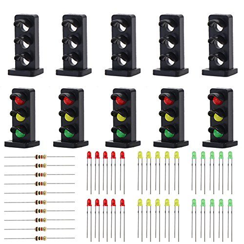 Evemodel 10 STK. Signale LED rot/gelb/grün DIY Zwergsignale Spur H0 / TT / 00 JTD20-10-EU