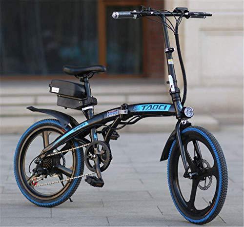 Bicicleta eléctrica de ciclomotor para adultos, bicicleta eléctrica plegable inteligente de velocidad de 20 pulgadas, 36V 8 / 10AH, 250W, Motor de acero al carbono, bicicleta de montaña para hombres B