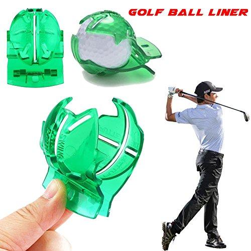 Golfball Markierer Golfbälle Ballmarkierer Linie Liner Marker Vorlage Zeichnung Mark Ausrichtung Setzen Werkzeug