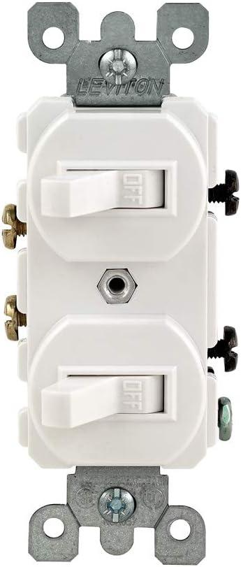 Kansas City Mall Leviton 5224-2W 15 Amp 120 277 Volt Single-Pole Duplex Bargain sale Style S