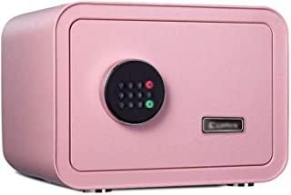 LLRYN Safe Box Keypad Safe, Digital Safe Security Cash Box Small Steel Safe Combination Lock with Key Mounted Office and H...