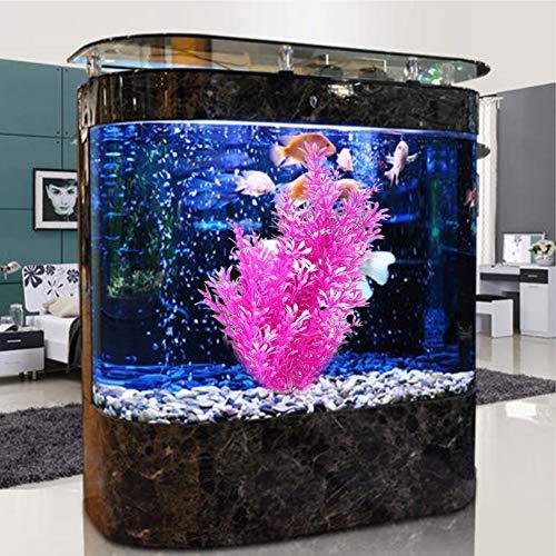 YUIP Simulationspflanzen lila, Simulationspflanzen Ornament lila, Aquarium Simulationswasserpflanzen, Simulationspflanzen für Alle Fische Geeignet (Hoch 10,62 Zoll)