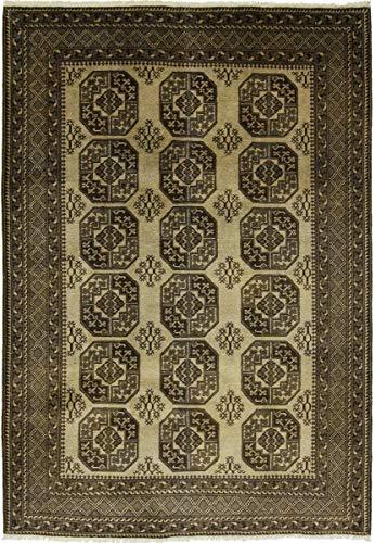 Nain Trading Afghan Ersari 297x205 Orientteppich Teppich Dunkelgrau/Beige Handgeknüpft Afghanistan
