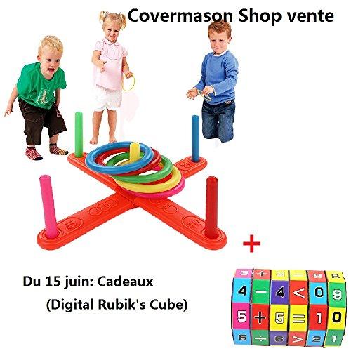 Covermason Jeu d'imitation, Anneau de Cerceau en Plastique Toss Palet Jardin Jeu Piscine Jouet extérieur Fun Ensemble Nouveau