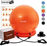 Best Ball Chairs - Knosfe Yoga Ball Chair, Exercise Ball with Leak-Proof Review