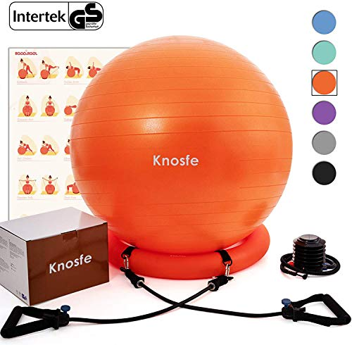 Knosfe Yoga Ball Chair, Exercise Ball with...