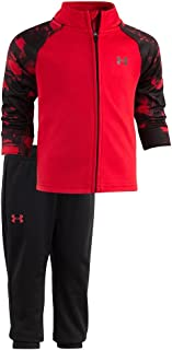 Under Armour Baby-Boys Newborn Precision Warm Up UA Set (0-3 Months, University Red (27D92077-60)/Black/Pearl Red)