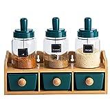 MAATCHH 691/5000 翻Juego de tarros de Especias Caja de acorazamiento de cerámica Creativa Conjunto de Cocina Tarro de Almacenamiento de Cocina Tarro de condimento Potes Cocina casera