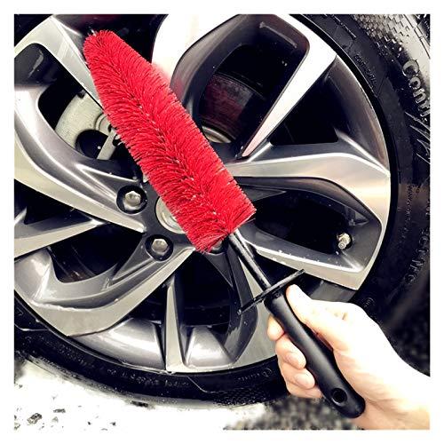 MeiZi 18'Larga Master Wheel Brush Auto Detallado Herramientas Limpieza Cepillos Ajuste para Neumático De Coche, Llantas, Cromo, Portavoces (Color : L Medium Soft Hair)