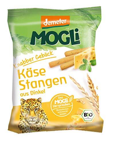 MOGLi Bio Demeter Dinkel Käse Stangen 12er Pack (12x75G)
