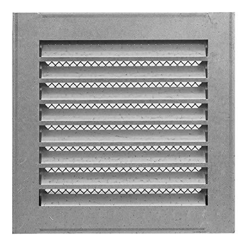 200 x 200mm Verzinkt Wetterschutz Lamellen Lüftungsgitter Zuluft Abluft Garage Küche Bad Wand Lufthaube