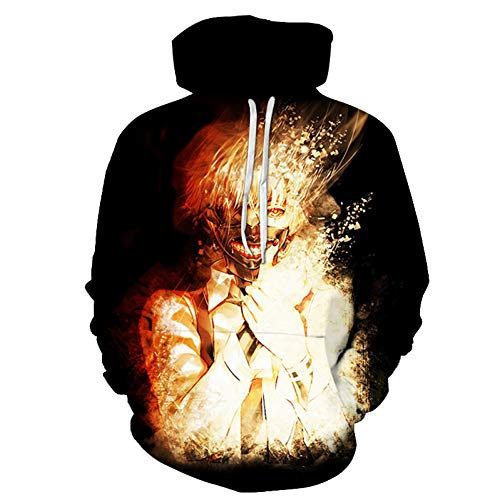 3D Tokyo Ghoul Jinmuyan hoodie, Lovers Fashion Personity, veelzijdig te combineren