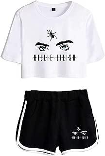 Hip Hop Conjunto de Ropa y pantalón Corto de Traje de Camiseta