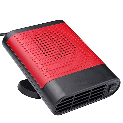 JIAMIN Calentador de coche de 12 V 150 W para coche, descongelador, ventilador caliente 2 en 1, furgoneta (color: externo)