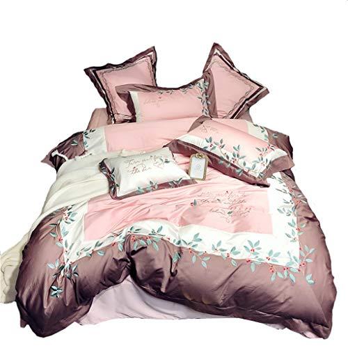 Duvet Covers Bettbezug Bettwäsche 4 Stück Komplett-Set enthält X1 Bettbezug X2 Kissenbezüge und X1 Spannbettlaken GCSQF (Size : 1.5 m (5 ft))
