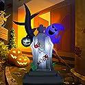 Zalalova 6-Feet Halloween Inflatable Tree Ghost & Tombstone