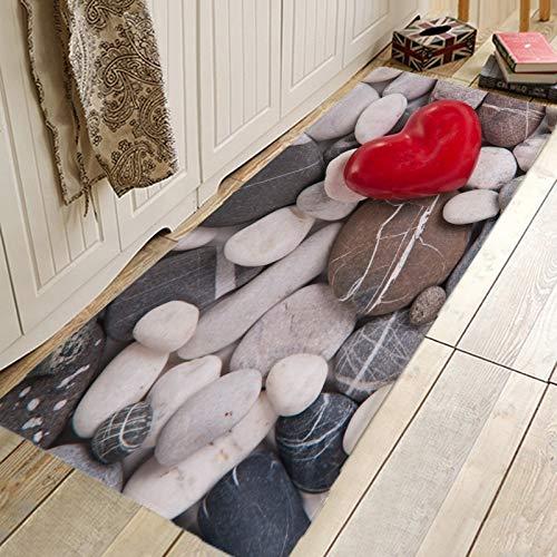 OPLJ Alfombrilla de baño Antideslizante 3D Alfombras de absorción de Agua Alfombras de Bienvenida para Puerta Delantera Felpudo Interior Alfombra Larga de Cocina A6 40x120cm