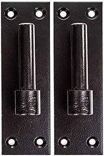 Merriway BH06847 Black Bulk Hardware Gate Hinge Brackets 16mm Pin Heavy Duty Wrought Iron Pack of 2, 2 Piece