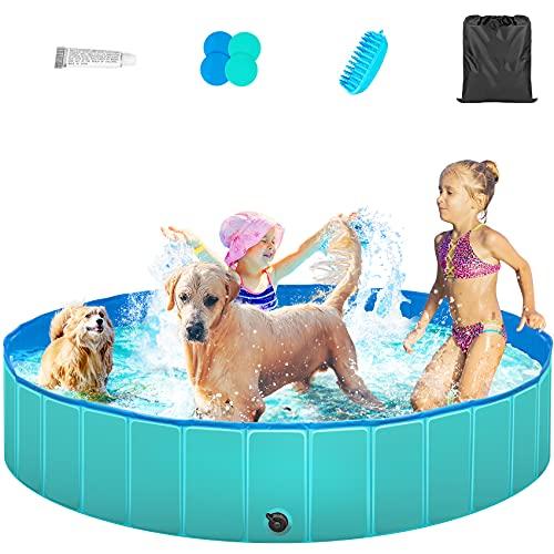 TREYWELL Dog Pool, Portable Pet Swimming Pool for...