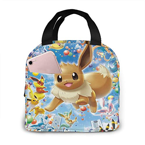 Poke Mon Lunch Bag Food Bag Lunch Box Tote Pupil Waterproof Cooler Bag For Lunch Picnic For Girls And Boys