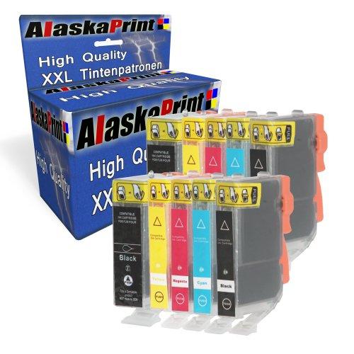 Alaskaprint 10x kompatible Druckerpatronen als Ersatz für Canon PGI-5 XL + CLI-8 XL Multipack für Canon Pixma IP4200 IP4300 IP3300 IP4500 IP5200 MP500 IP3500 iX4000 IX5000 MP510 MP520 MP530 MP610 MP810 IP5300 MP970