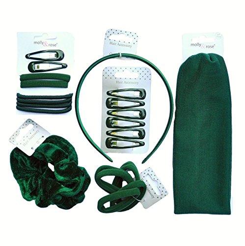 24x piezas Niñas Escuela accesorios para el pelo–Bumper pack–Botella Verde