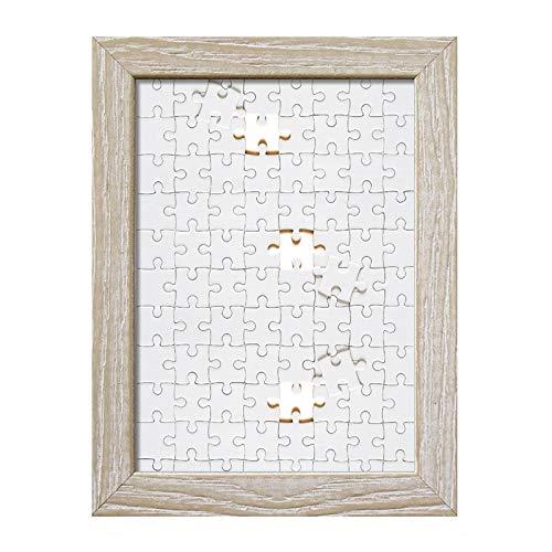 Lupia Cornice per Puzzle da Parete in Legno Shabby Chic Beige