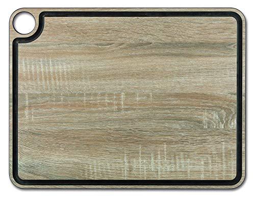 Arcos Tablas, Tabla de Corte con Canal, Fibra de Celulosa y Resina 42, 7 x 32, 7 cm y 6, 5 mm de espesor, Color Marrón