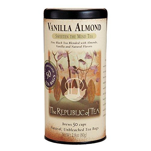 The Republic of Tea, Vanilla Almond Black Tea, Caffeinated, 50 Count