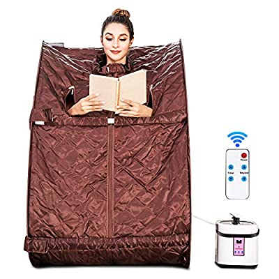 Aceshin Portable Steam Sauna Home Spa, Personal Therapeutic Sauna for Weight Loss, Detox, Relaxation at Home with Foldable Chair, Remote Control, Timer