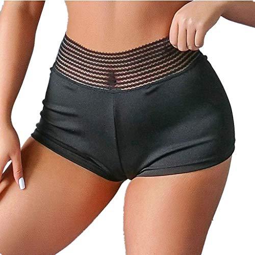 luoluo dames sport korte broek zomer vrouwen sport shorts zwart High Waist trainingsbroek elastisch yoga shorts plooien