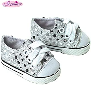 Sophia`s 18 Inch Doll Sneakers. Silver Glitter Doll Sneakers Shoes Fit 18 Inch American Girl Dolls & More! Silver Glitter ...