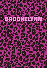 Brookelynn: Personalized Pink Leopard Print Notebook (Animal Skin Pattern). College Ruled (Lined) Journal for Notes, Diary, Journaling. Wild Cat Theme Design with Cheetah Fur Graphic