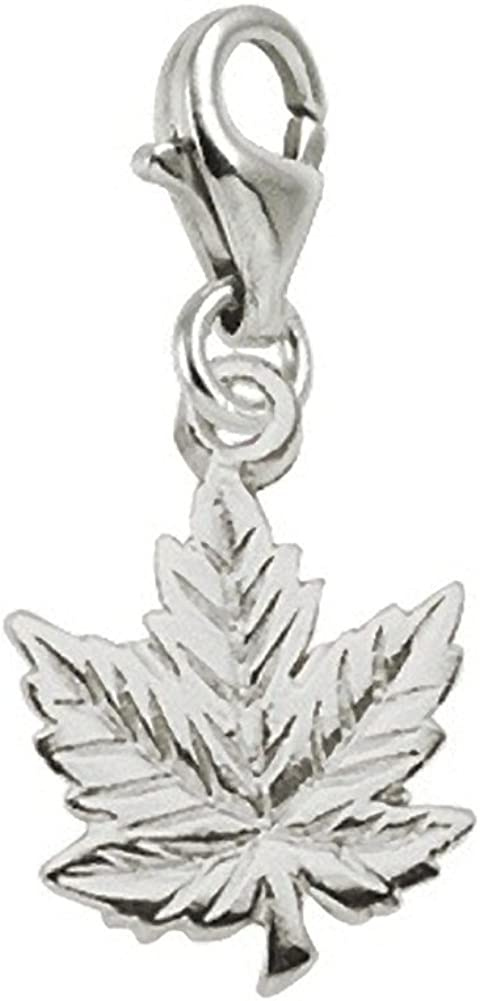 Maple Leaf Gorgeous Charm With Lobster Finally popular brand Claw Bracelets a for Charms Clasp