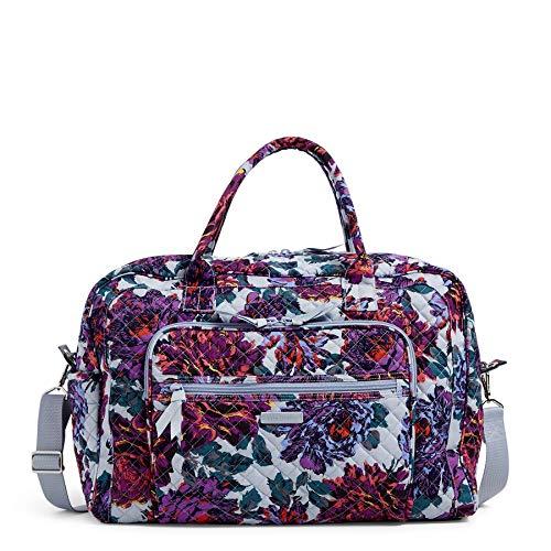 Vera Bradley Women's Signature Cotton Weekender Travel Bag, Neon Blooms, One Size