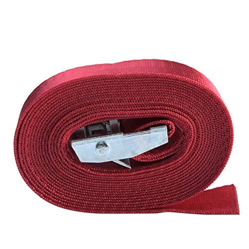 1/2/3/4 Meter Metal Buckle Nylon Pack Cam Tie Down Lash Luggage-Strap Durable(Red4m)