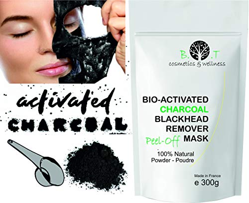 Mascarilla Exfoliante peel-off Carbón activo anti puntos negros 300g Mascara de Alginatos...