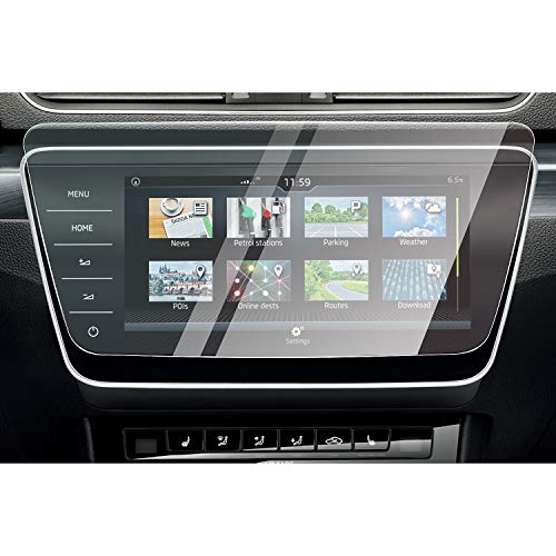 [9.2 Zoll] CDEFG für Skoda Superb Business Columbus 2019 2020 Auto Navigation Glas Schutzfolie 9H Kratzfest Anti-Fingerprint GPS Transparent Displayschutzfolie