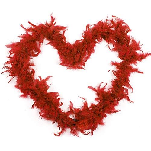 Boas de plumas para fiestas de disfraces, accesorios para mujeres y niñas, para decoración de bricolaje rosso
