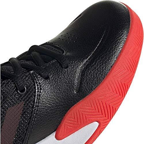 adidas Unisex Baby Ownthegame K Wide Basketballschuhe, Noir/Rouge/Blanc, 38 2/3 EU