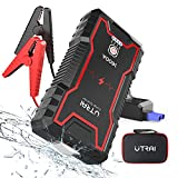 UTRAI Jump Starter Jstar Zero 1600A Peak 16000mAH (up to 7.0L Gas and up to 6.5L Diesel Engines) 12V Auto Battery Booster Portable Power Pack with Safety Hammer