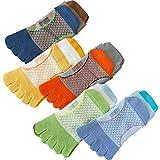Camidy Calcetines de 5 Pares para Niños Calcetines de Cinco Dedos para Niños Calcetines de Algodón Transpirables para El Ejercicio Deportivo