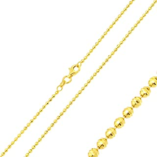 Princess Kylie Yellow Gold-Tone Plated Sterling Silver Small Box Chains 1.0mm