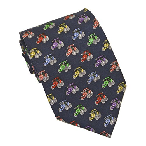 Farm Tractors repeating 100% Silk Classic Tie